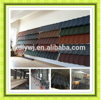XDL colorful stone chip coated steel roof tiles cold roll forming machine