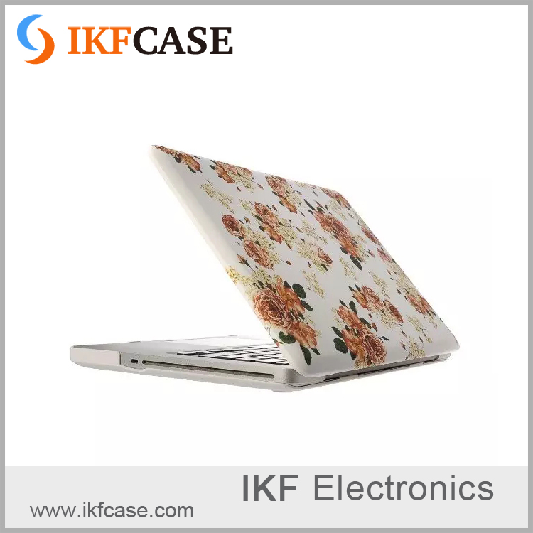 Hot selling anti-scrach highly protective floral print 13 inch universal laptop shell