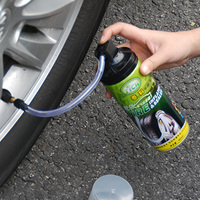 Tire puncture repair sealer with inflator Repair spray