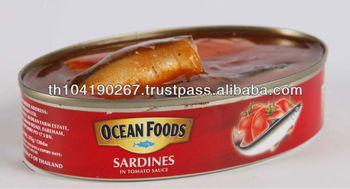 Canned Sardines In Tomato Sauce (215 g) Oval Can