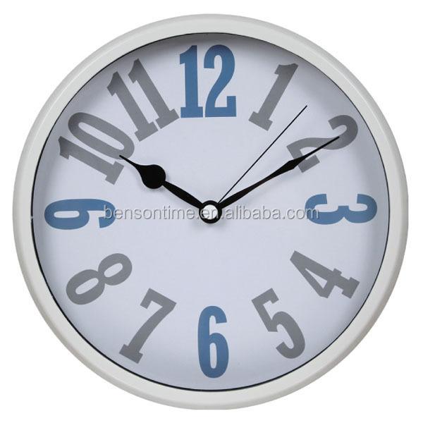 Cason Fancy Number Wall Clock Plastic Design