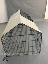Hot sale outdoor folding wire mesh rabbit hutch with sunshade cover