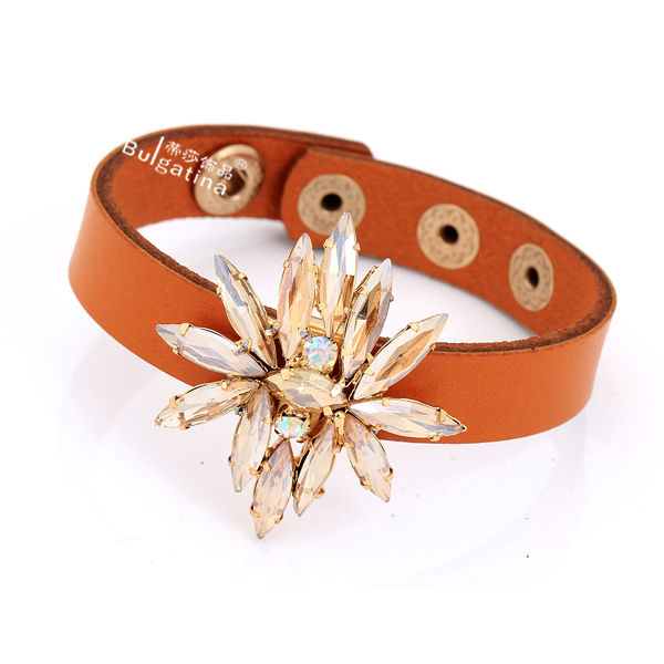 Wholesale European Style Leather Wrap Bracelets,Making Leather Bracelets,Leather Cuff Bracelets