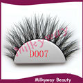 Milkyway D007 3D mink lashes 100% real siberian mink fur tip fluffy false eyelashes thick crossing double layered strip lashes