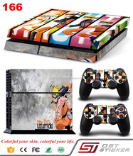 Naruto Style Vinyl sticker skin for PS4 gaming console