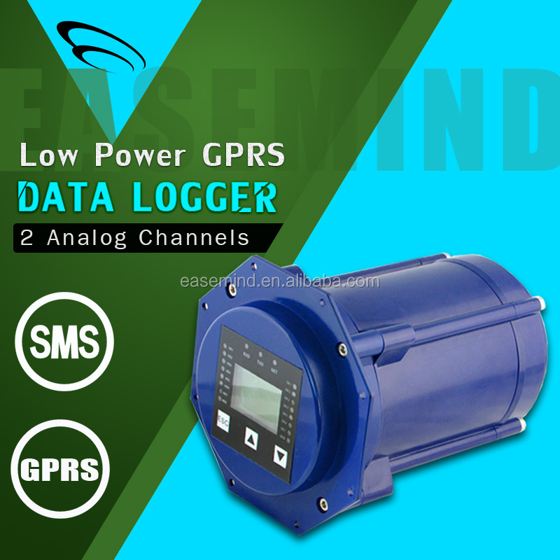 Internal high capacity battery SMS GPRS DATA LOGGER for oil/gas pipes network