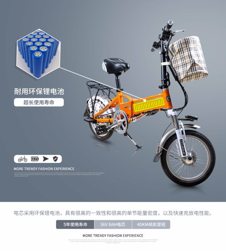 2016 best sell green power cheap <strong>folding</strong> kids electric bicycle price