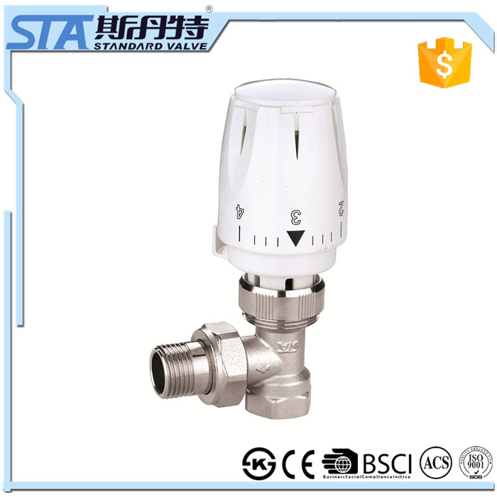 ART.5033 HVAC system type radiator valve, thermostatic radaitor valve, plastic head with brass radiator valve for floor heating