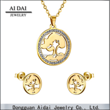 Quality 18 carat gold jewelry sets for women ZR-103