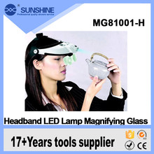 Wholesale portable double personal headlight magnifier for antique inspection
