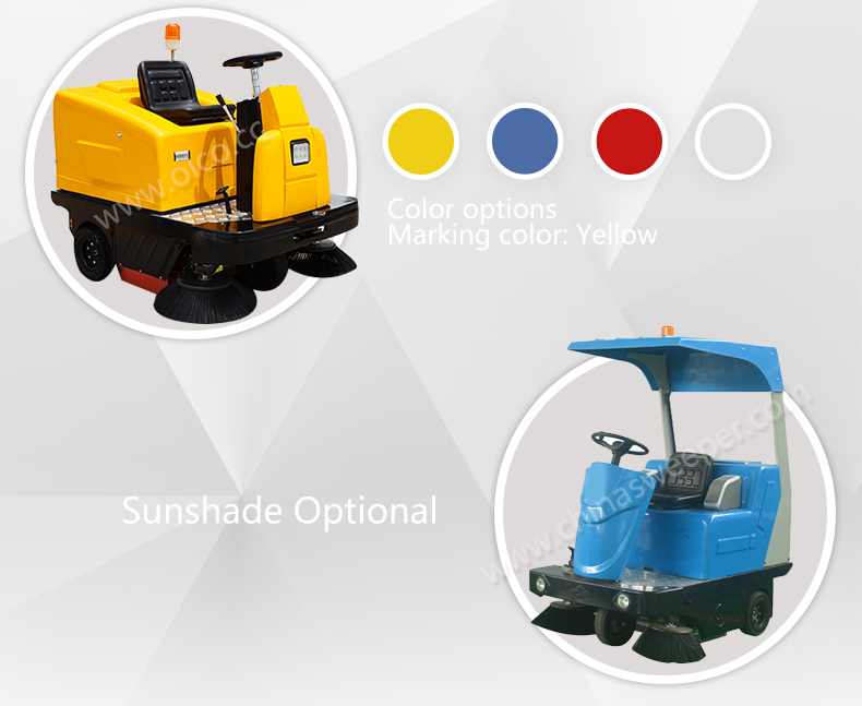2017 High quality Electric Street Sweeper, Small Street Sweeper, Compact Street Sweeper