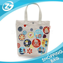 Fashion Style Natural Color Heat Transfer Printing Cotton Carrying Bag