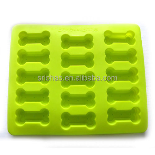 15-cavity Dog Bone Footprint Pet Cake Mold Mould Soap Mold Silicone Flexible