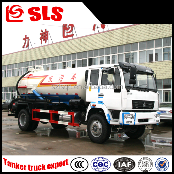 China new 3000L sewage suction tanker truck, Suction -type sewer scavenger