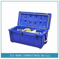 180L Food grade plastic Rotomolded Ice cooler box for car ice chest and camping cooler