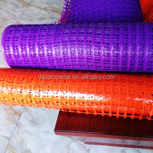 Plastic safety fence plastic mesh net yellow orange and other color barrier fence