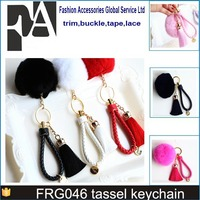 wholesale colorful mini silk tassel with gold cap for keychain car PHONE 6S