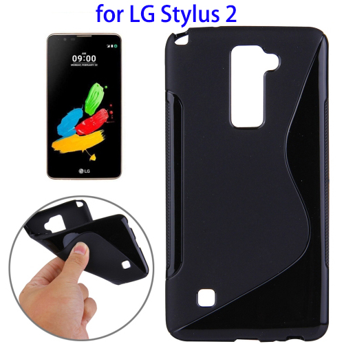 2016 Trending Product S-Shaped Phone Case for LG Stylus 2, Soft TPU Protective Case for LG