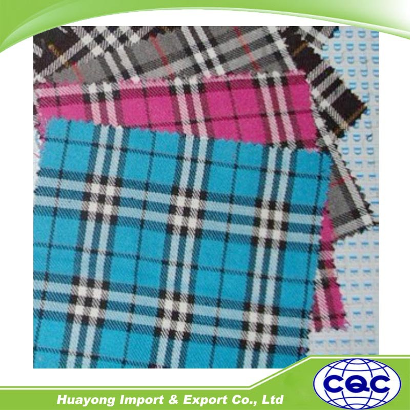 100% cotton tartan plaid flannel fabric for bed sheet