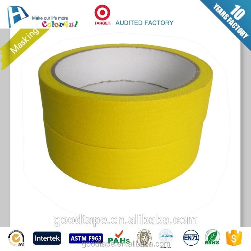 Manufacturer customized yellow removable adhesive paper for car painting superior quality