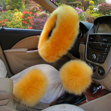 wholesale sheep wool pink fur skid resistance fur car steering wheel cover
