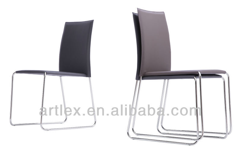 Modern Dining Room Leather High Back Upholstered Dining Chairs