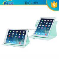 Different candy color dynamic folding stand belt clip leather case for ipad mini