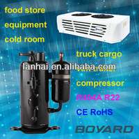 CE RoHS rotary small refrigerator compressor for condensing unit refrigeration in glass display showcase