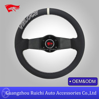 Two Spoke Auto Leather Steering Wheels Wholesales Price 350mm