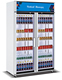 Supermarket display refrigerator 2 Glass Door Freezer Display Cabinets Commercial Refrigerator For Beverages