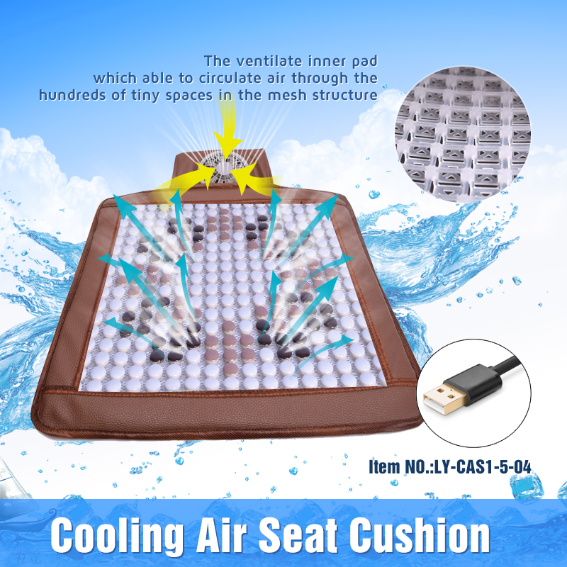 Single-seat USB Cooling Air Car Seat Cushion With Mini Fan