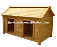 wooden dog house with double room DH004