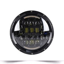 12v 24v High Power Angel Eye 90w Motorcycle Round 7Inch LED Headlight Off-road Driving Lights Halo Auto Headlamp