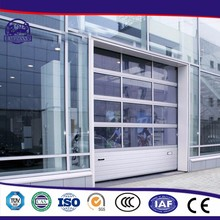 Full View Motorized Aluminum Insulated Frosted Tempered Glass Garage Overhead Door