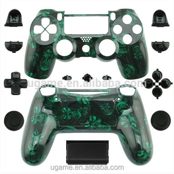 Wholesale green skull controller housing shell for ps4