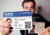 Facebook id card pvc rfid cards Low cost print and price high quality