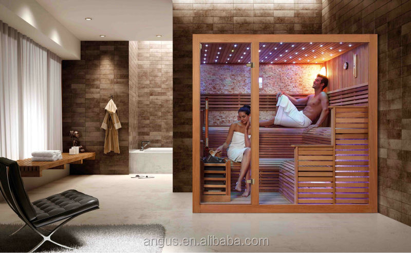 New luxury sauna room dry YH-1233 with solid wood