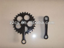 chain wheel and crank
