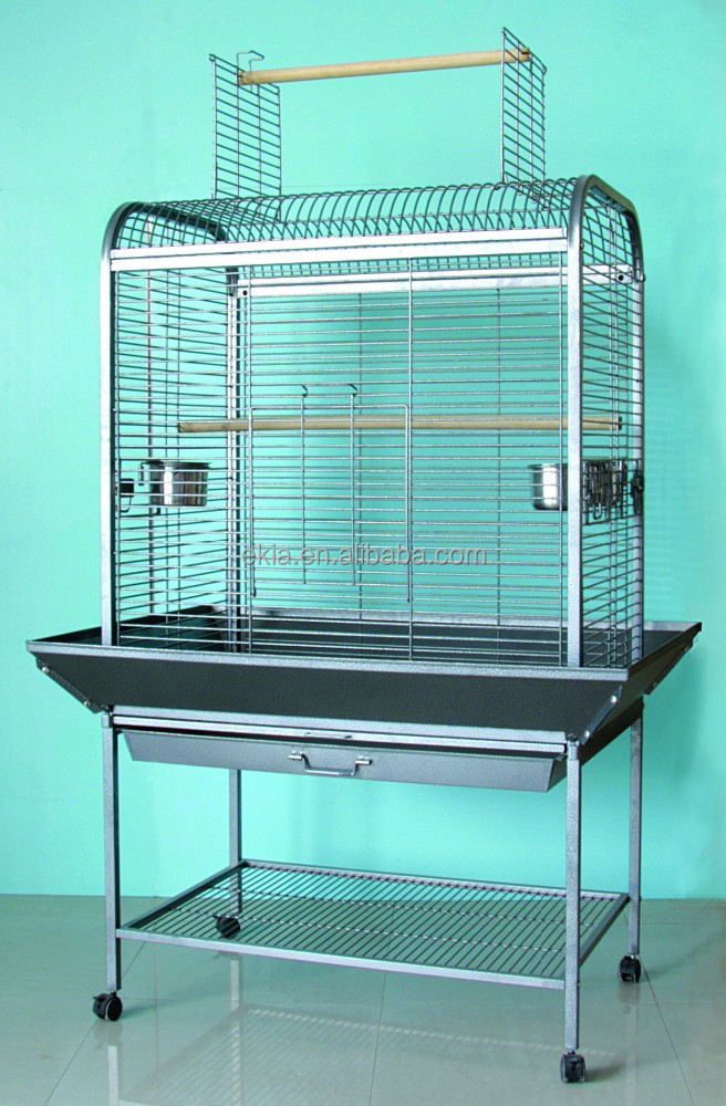metal large parrot cage play stand