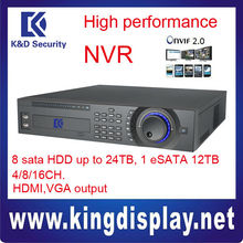 NVR3804/3808/3816 Wholesale DAHUA NVR 2U SIZE 8 HDD SUPPORTED onvif2.0 HDMI output