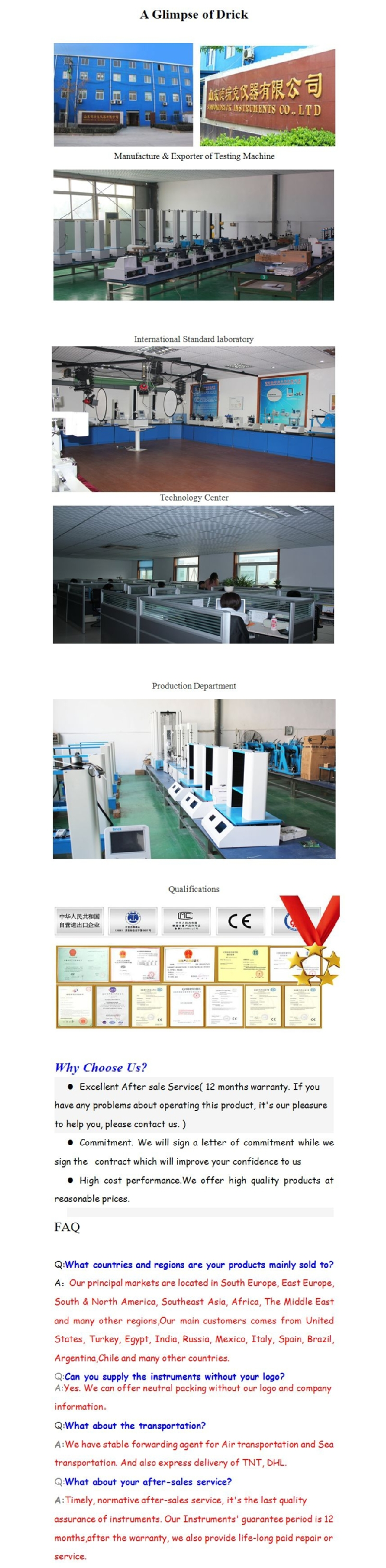 High Standard Negative/Positive packaging water leak pressure test