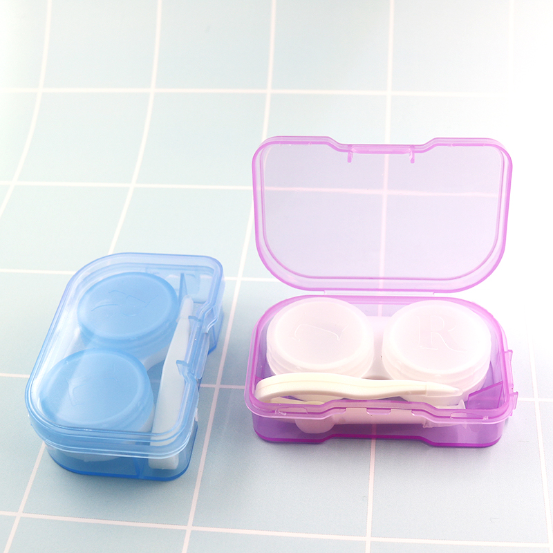 Hot selling wholesale cute plastic contact lens case