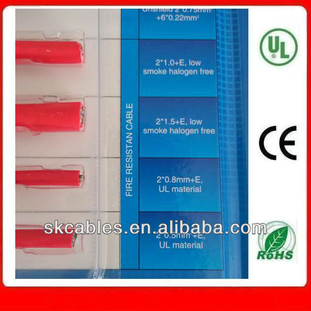 2*1.0mm+E Red Fire Alarm Cable