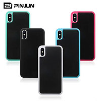 High quality silicon black for iphone x antigravity cases nano magic selfie sticky,for iphone x case shock proof
