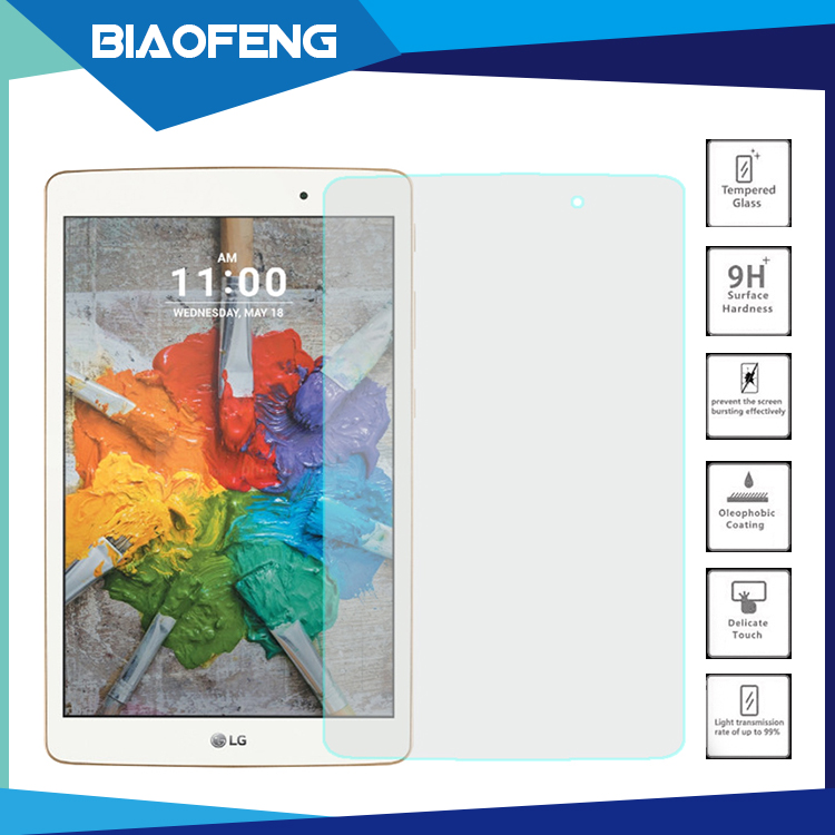 Bulk buy from china explosion proof tempered glass tablet screen protector for lg g pad x 8.0