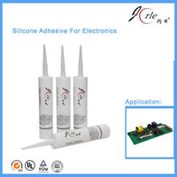 Flowable one part silicone sealant for electronics