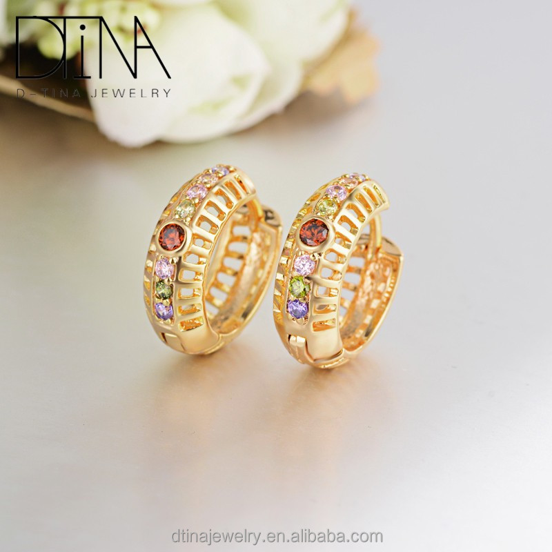 Dtina women's fashion retro hollow out earrings <strong>18</strong> <strong>k</strong> <strong>gold</strong> plated unique design mesh earrings