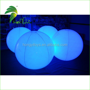 Led Color Change PVC Inflatable Balloons For Decoration