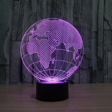 FS-2817 globe 3d effect led desk lamp of acrylic decorating 3d desk lamp with led color changing projector