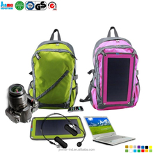 6.5W anti-theft waterproof casual backpack bag with Solar charger JM-B007S24